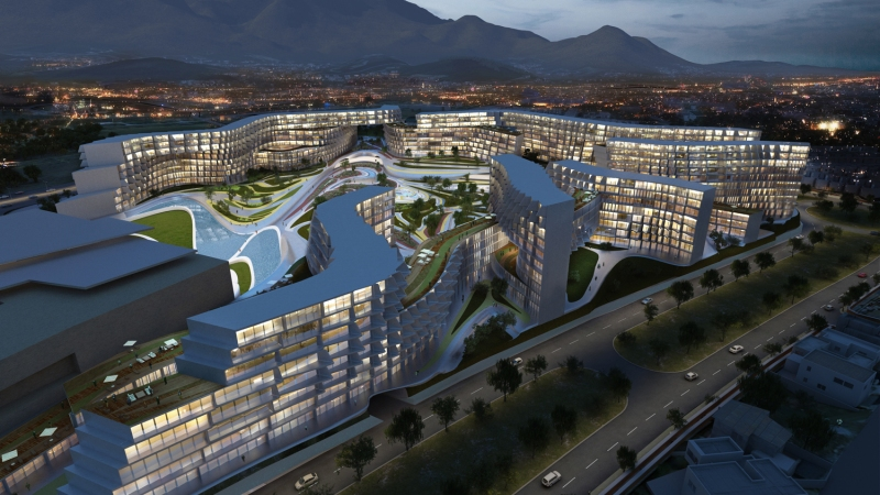 Zaha Hadid's Monterrey project is widely published.