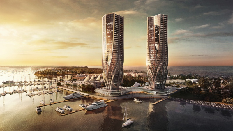 Dual Towers by Zaha Hadid at Gold Coast, Australia